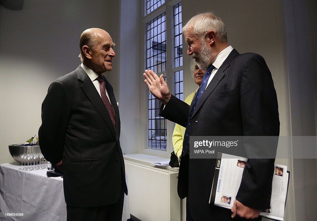 <a gi-track='captionPersonalityLinkClicked' href=/galleries/search?phrase=Prince+Philip&family=editorial&specificpeople=92394 ng-click='$event.stopPropagation()'>Prince Philip</a>, the Duke of Edinburgh (left) speaks with Sir Chris Bonington during a reception to celebrate the 60th Anniversary of the ascent of Everest, at the Royal Geographical Society in Kensington, on May 29, 2013 in west London, England.