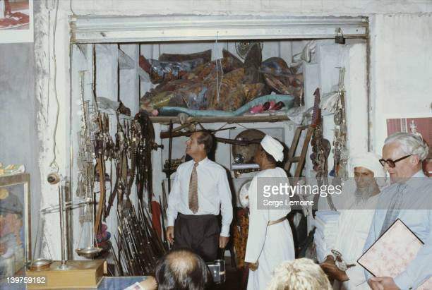 Prince Philip visits a souk in Muscat during a state visit to Oman 28th February 1979