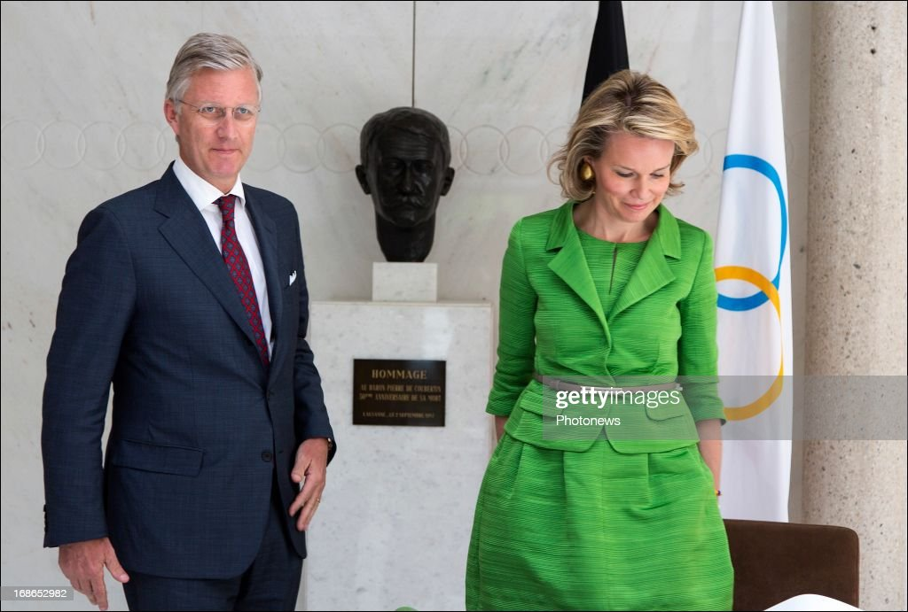 Prince Philippe and Princess Mathilde of Belgium attend a visit to the headquarters of the IOC on May 13, 2013 in Lausanne, Switzerland.