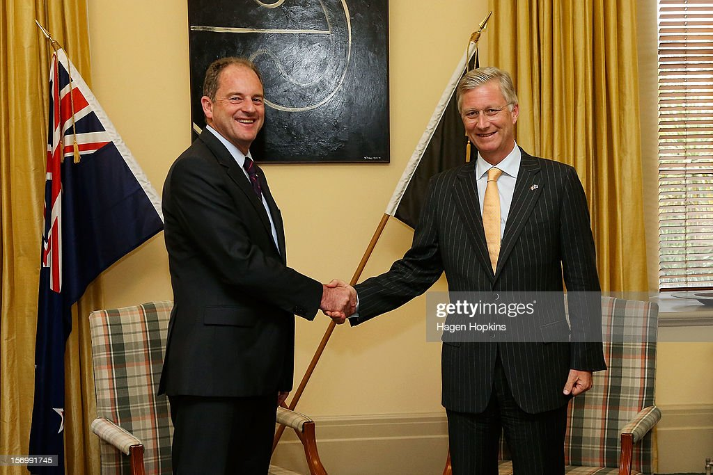 Prince Philippe Of Belgium and Labour leader David Shearer at Parliament on November 27, 2012 in Wellington, New Zealand. Prince Philippe is on a three-day visit to New Zealand that will take him to Wellington and Auckland.