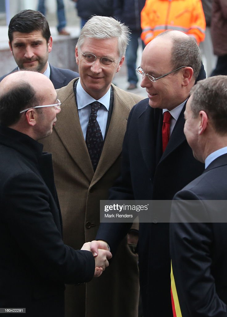Prince Philippe of Belgium (centre L) and Prince Albert II of Monaco (centre R) attend the 1st Interdisciplanary Congress On Sustainable Development at the Palais des Congres on January 31, 2013 in Namur, Belgium. Topics expected to be covered at the two-day conference, on January 31 and February 1, 2013, include food and agriculture, land use, planning and housing.