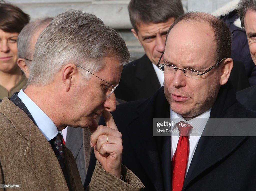Prince Philippe of Belgium and Prince Albert II of Monaco (R) attend the 1st Interdisciplanary Congress On Sustainable Development at the Palais des Congres on January 31, 2013 in Namur, Belgium. Topics expected to be covered at the two-day conference, on January 31 and February 1, 2013, include food and agriculture, land use, planning and housing.