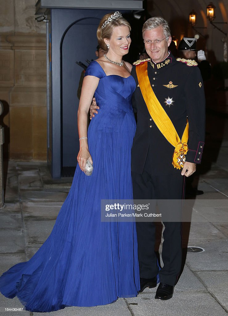 Prince <a gi-track='captionPersonalityLinkClicked' href=/galleries/search?phrase=Philippe+of+Belgium&family=editorial&specificpeople=160209 ng-click='$event.stopPropagation()'>Philippe of Belgium</a> and Princess Mathilde of Belgium attend the Gala dinner for the wedding of Prince Guillaume Of Luxembourg and Stephanie de Lannoy at the Grand-ducal Palace on October 19, 2012 in Luxembourg, Luxembourg. The 30-year-old hereditary Grand Duke of Luxembourg is the last hereditary Prince in Europe to get married, marrying his 28-year old Belgian Countess bride in a lavish 2-day ceremony.