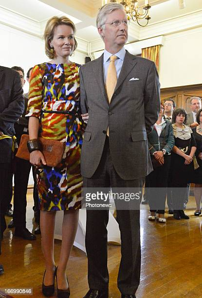 Prince Philippe of Belgium and Princess Mathilde of Belgium during a visit to Luxembourg on April 19 2013 in Luxembourg Belgium
