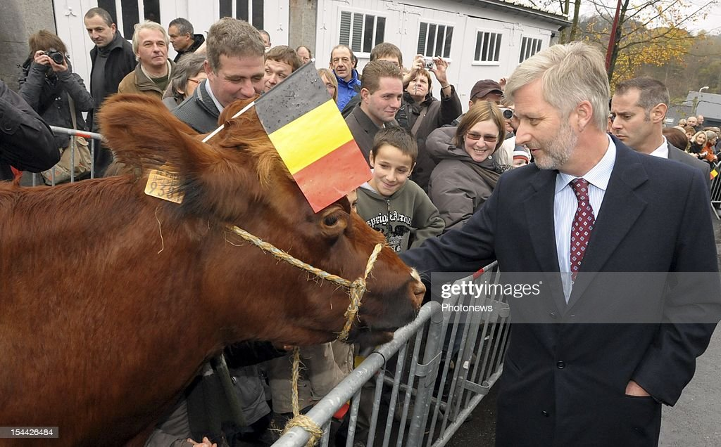 Prince Philippe of Belgium and Princess Mathilde visit the province of Liège.