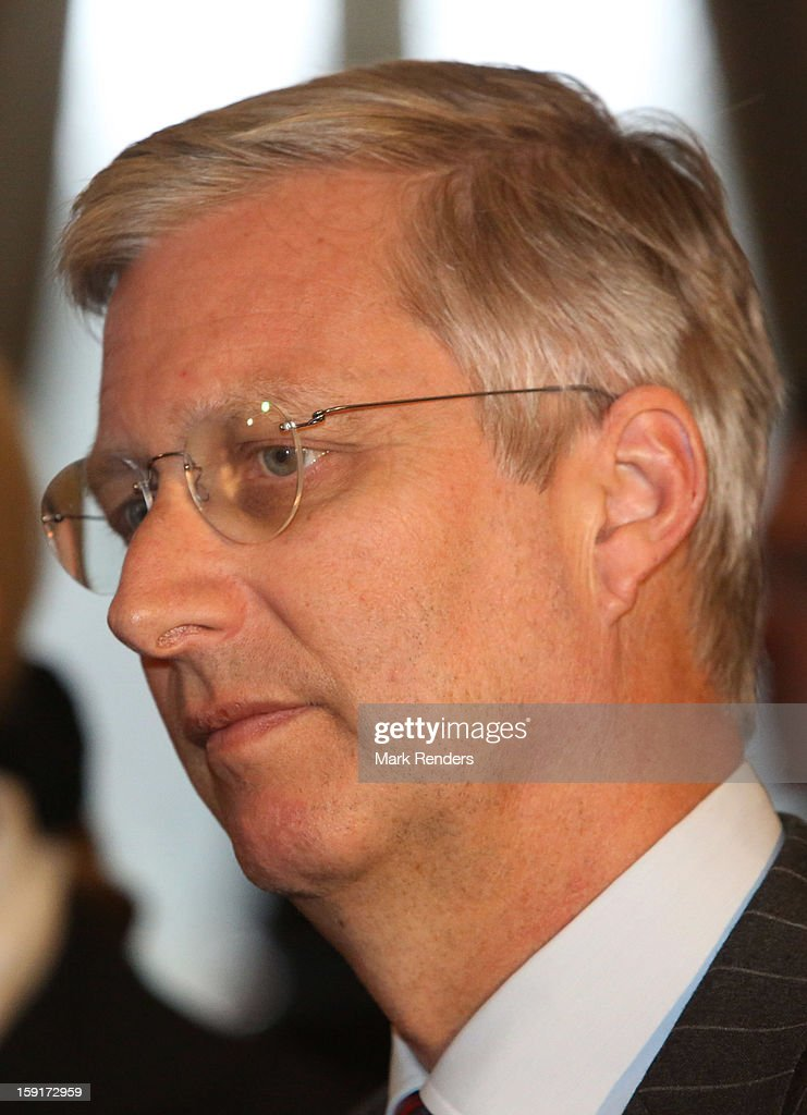 Prince <a gi-track='captionPersonalityLinkClicked' href=/galleries/search?phrase=Philippe+of+Belgium&family=editorial&specificpeople=160209 ng-click='$event.stopPropagation()'>Philippe of Belgium</a> attends a New Year Reception at Palais de Bruxelles on January 9, 2013 in Brussel, Belgium.