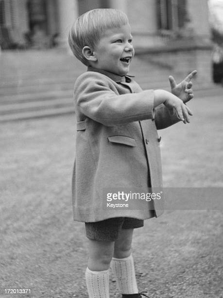 Prince Philippe of Belgium celebrates his third birthday 15th April 1963