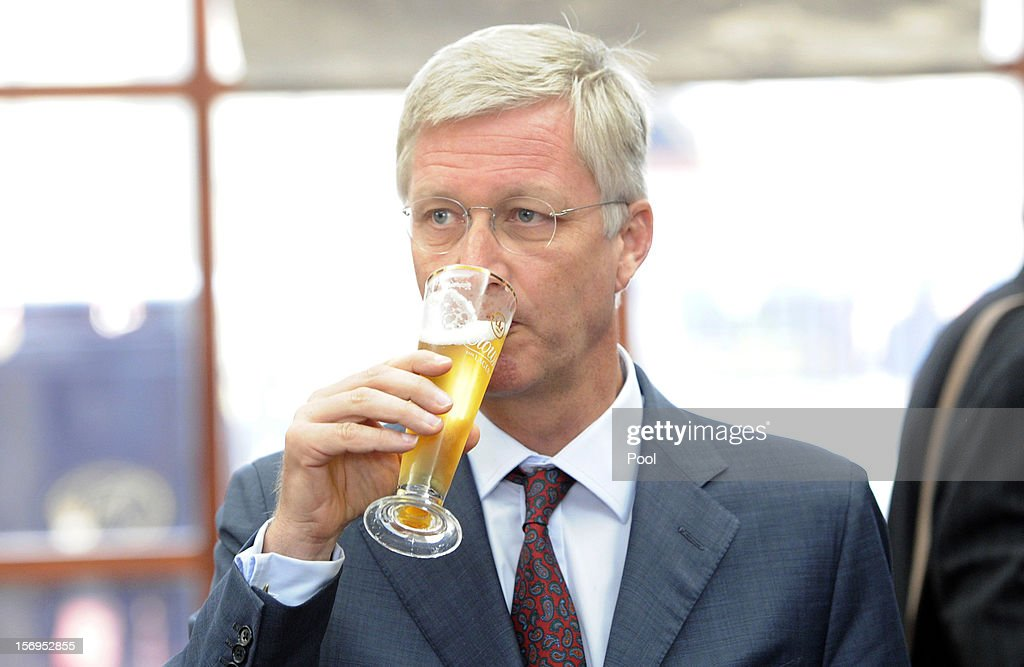 Prince Philippe of Belgium drinks a Crown Lager beer at Carlton BrewHouse on November 26, 2012 in Melbourne, Australia. Prince Philippe is on a ten-day tour of Australia that will take him to Perth, Sydney, Canberra and Melbourne.