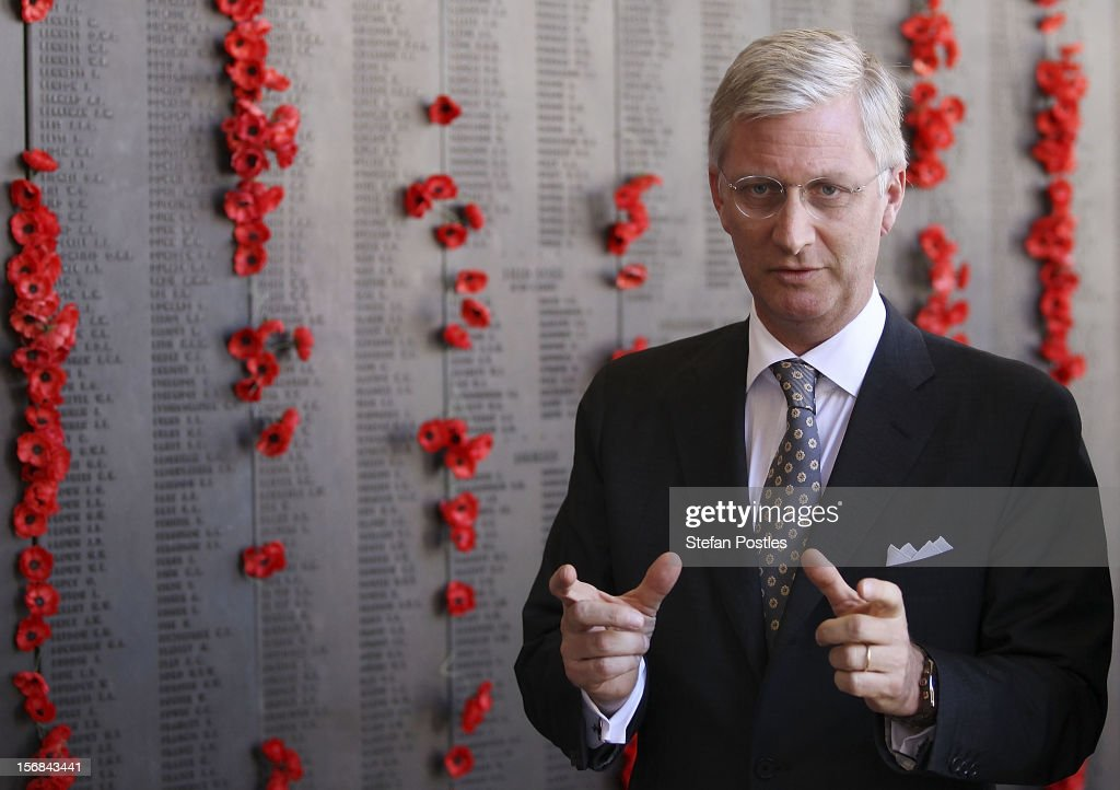 Prince <a gi-track='captionPersonalityLinkClicked' href=/galleries/search?phrase=Philippe+of+Belgium&family=editorial&specificpeople=160209 ng-click='$event.stopPropagation()'>Philippe of Belgium</a> is given a tour of The Australian War Memorial on November 23, 2012 in Canberra, Australia. Prince Philippe is on a ten-day tour of Australia that will take him to Perth, Sydney, Canberra and Melbourne.
