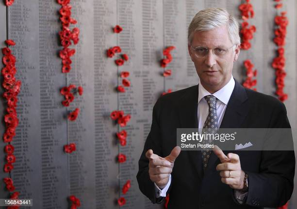 Prince Philippe of Belgium is given a tour of The Australian War Memorial on November 23 2012 in Canberra Australia Prince Philippe is on a tenday...