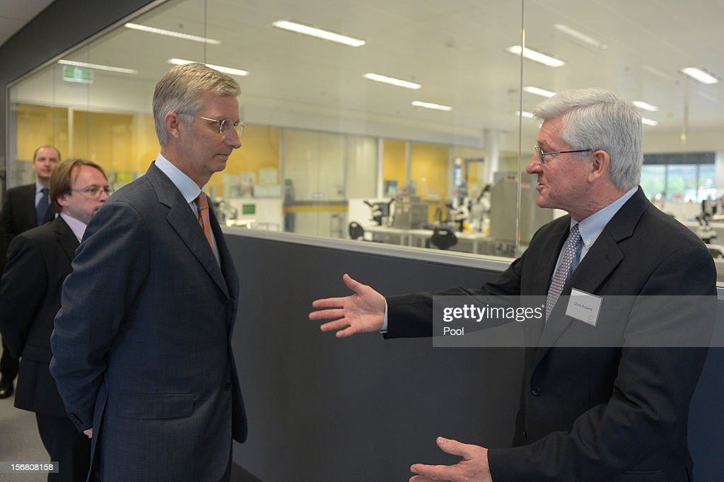 Prince <a gi-track='captionPersonalityLinkClicked' href=/galleries/search?phrase=Philippe+of+Belgium&family=editorial&specificpeople=160209 ng-click='$event.stopPropagation()'>Philippe of Belgium</a> (L)is greeted by Cochlear CEO Dr. Chris Roberts (right) during a tour of Cochlear ion November 22, 2012 in Sydney, Australia. Prince Philippe is on a ten-day tour of Australia that will take him to Perth, Sydney, Canberra and Melbourne.