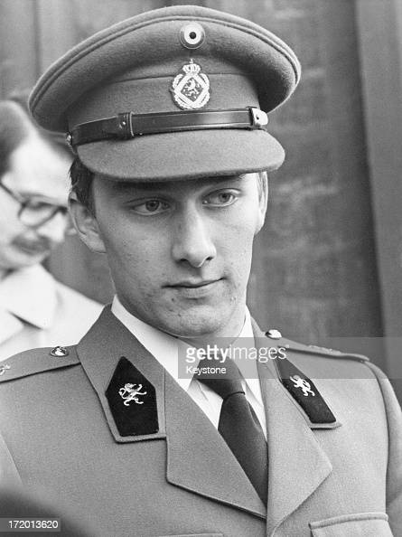 Prince Philippe of Belgium leaving the Cathedral of St Michael and St Gudula Brussels 16th November 1978