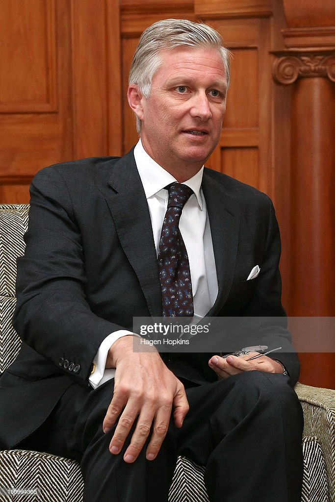 Prince Philippe Of Belgium looks on while meeting Governor-General Sir Jerry Mateparae at Government House on November 27, 2012 in Wellington, New Zealand. Prince Philippe is on a three-day visit to New Zealand that will take him to Wellington and Auckland.