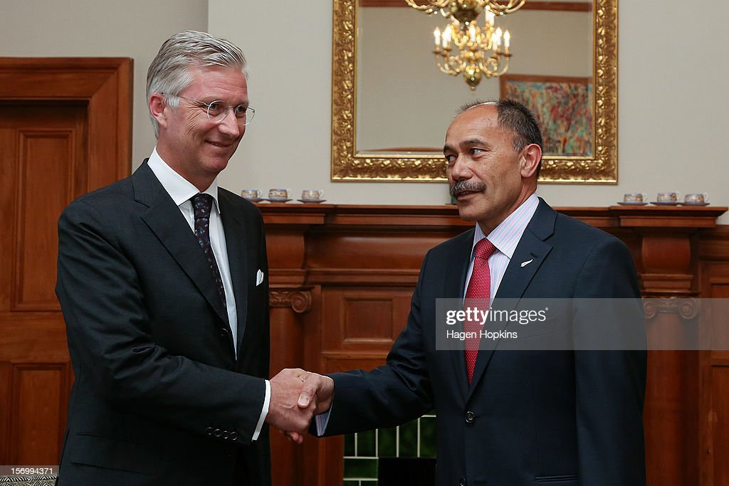 Prince Philippe Of Belgium meets Governor-General Sir Jerry Mateparae at Government House on November 27, 2012 in Wellington, New Zealand. Prince Philippe is on a three-day visit to New Zealand that will take him to Wellington and Auckland.