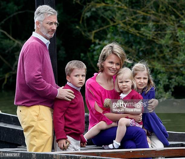 Prince Philippe of Belgium Prince Gabriel of Belgium Princess Mathilde of Belgium Princess Eleonore of Belgium and Princess Elisabeth of Belgium...