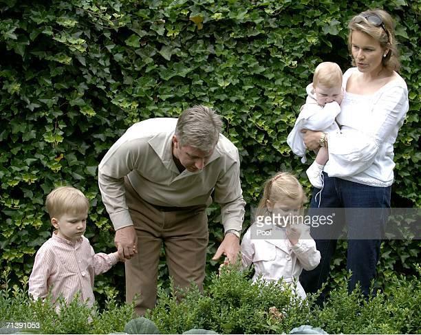 Prince Philippe of Belgium Princess Mathilde of Belgium and their children Princess Elisabeth of Belgium Prince Gabriel of Belgium and and Prince...