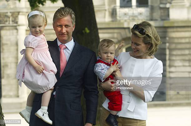 Prince Philippe of Belgium Princess Mathilde Princess Elisabeth and Prince Gabriel celebrate the 70th birthday of King Albert I