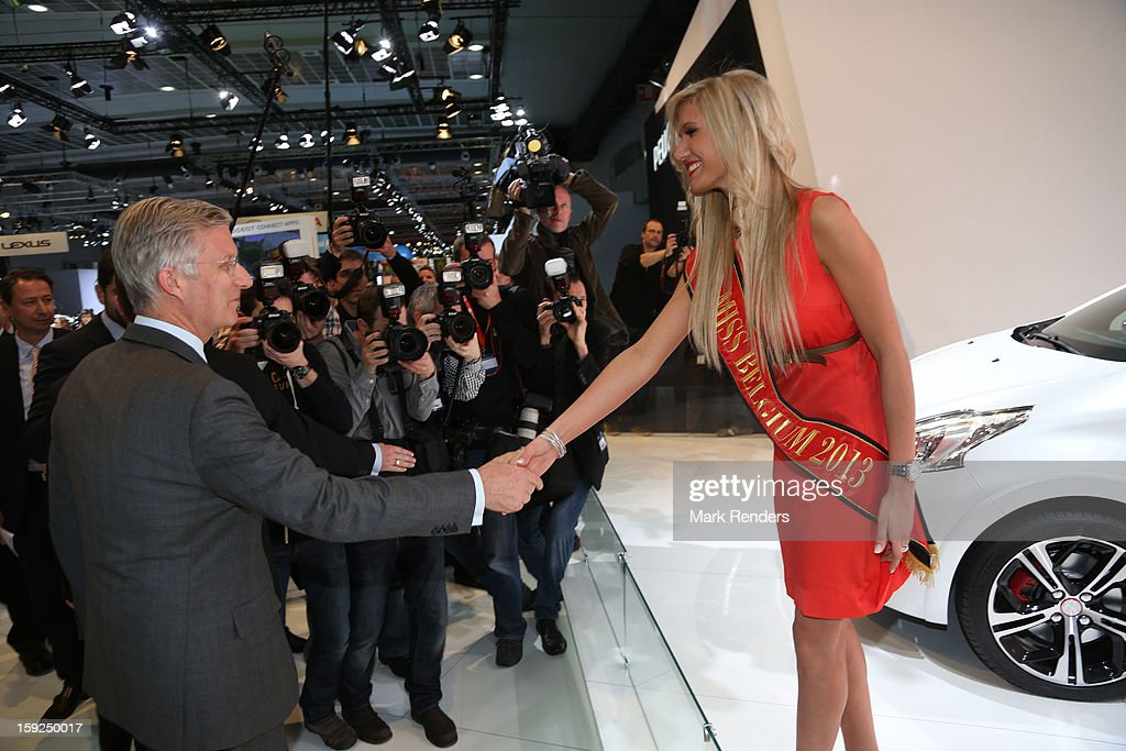 Prince <a gi-track='captionPersonalityLinkClicked' href=/galleries/search?phrase=Philippe+of+Belgium&family=editorial&specificpeople=160209 ng-click='$event.stopPropagation()'>Philippe of Belgium</a> visits the 91st edition of the European Motor Show at Brussels Expo on January 10, 2013 in Brussels, Belgium.