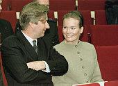 Prince Philippe Princess Mathilde at the University Hospital of Antwerp