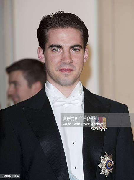 ** ** Prince Philippos Of Greece Arriving At A Gala Dinner At Christiansborg Palace To Celebrate 40 Years On The Throne Of Queen Margrethe Ii Of...