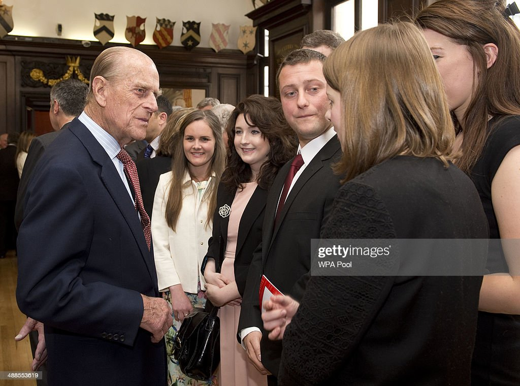 Prince Phillip, Duke of Edinburgh looks on during a visit to the Journalists' Charity at the Stationers' Hall on May 7, 2014 in London, England. They were met by Lord Rothermere, President, Journalists' Charity and Mr Tom Hempenstall, Master of Stationers' Company, they also met senior media executives, journalists, industry figures and sponsors.