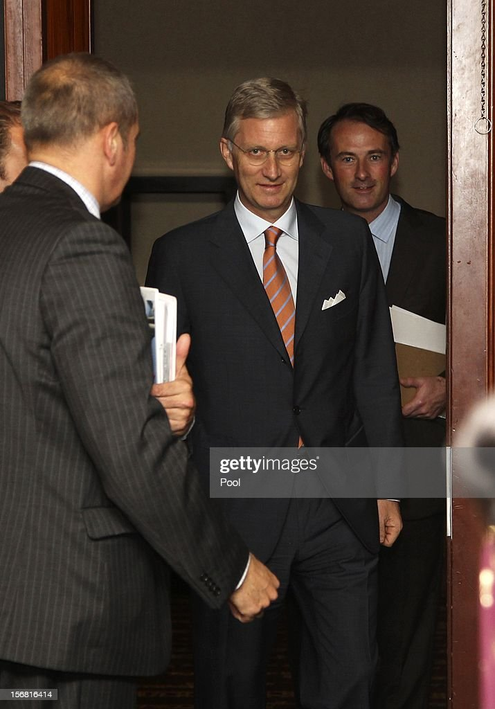 Prince Phillipe of Belgium arrives to witness a signing ceremony of commercial agreements between eight Australian and Belgium companies on November 22, 2012 in Sydney, Australia. Prince Philippe is on a ten-day tour of Australia that will take him to Perth, Sydney, Canberra and Melbourne.