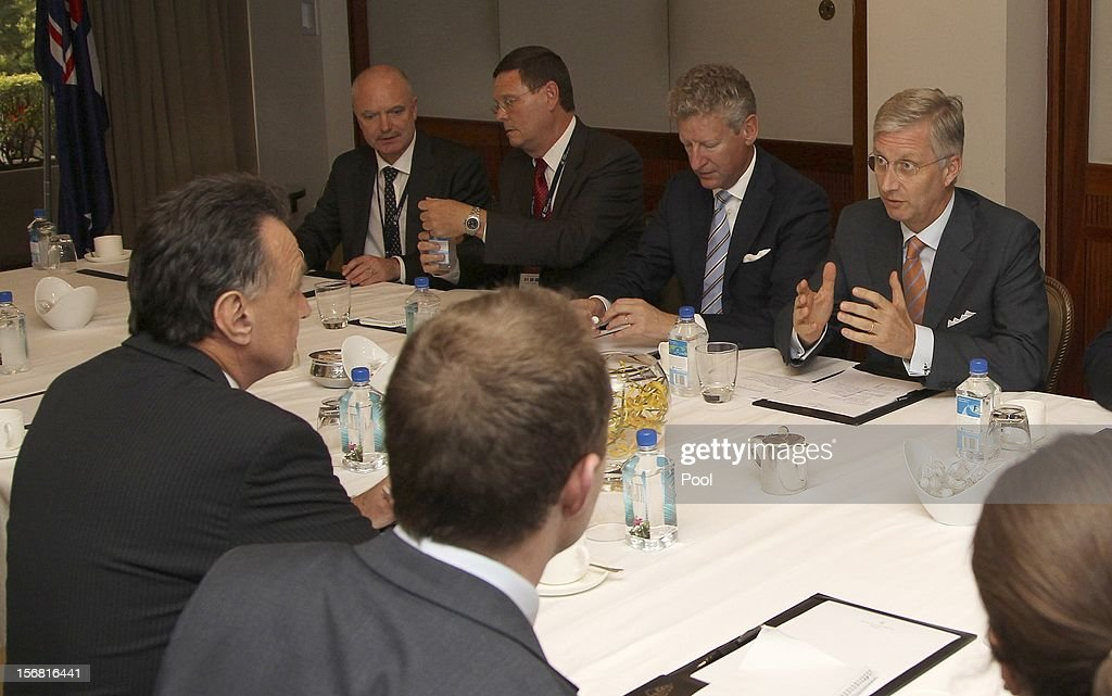 Prince Phillipe of Belgium (R) speaks with Dr Craig Emerson (L) during a meeting on November 22, 2012 in Sydney, Australia. Prince Philippe is on a ten-day tour of Australia that will take him to Perth, Sydney, Canberra and Melbourne.