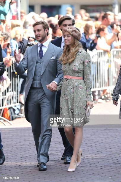 Prince Pierre Casiraghi and his wife Beatrice Borromeo during the wedding of Prince Ernst August of Hanover jr Duke of BrunswickLueneburg and his...