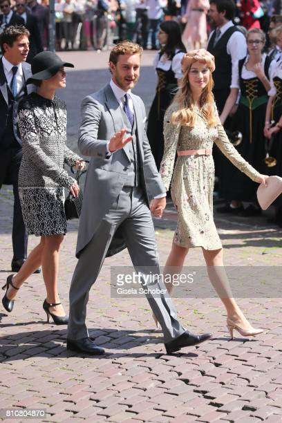 Prince Pierre Casiraghi and his wife Beatrice Borromeo Princess Charlotte Casiraghi during the wedding of Prince Ernst August of Hanover jr Duke of...