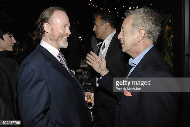 Prince Pierre d'Arenberg and Gilles Bensimon attend Christian Lacroix's Private Dinner at Gramercy Park Hotel on April 10 2008 in New York City