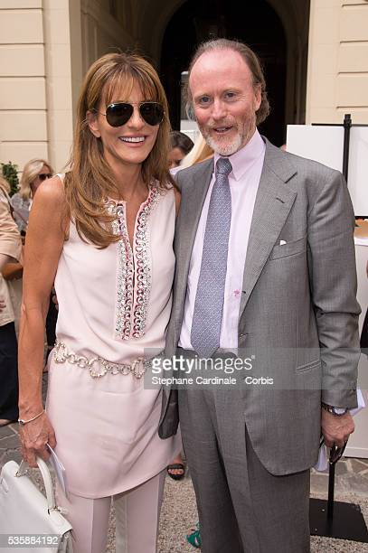 Prince Pierre D'Arenberg and Patricia D'Arenberg attend the Natan by Edouard Vermeulen show as part of Paris Fashion Week HauteCouture Fall/Winter...