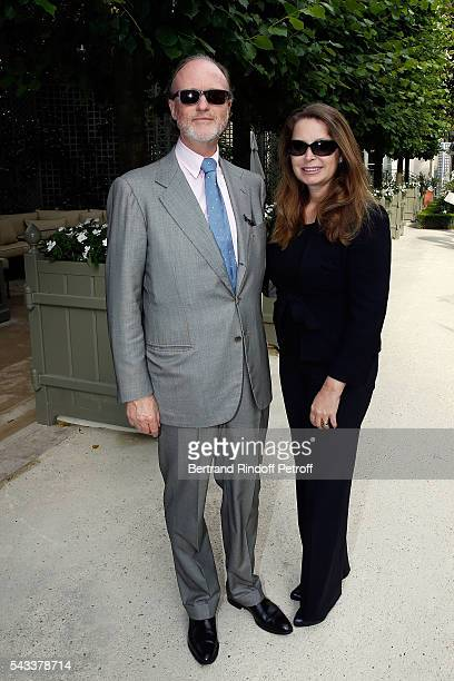 Prince Pierre d'Arenberg and Princess attend the 'Colonne Vendome' Is Unveiled After Restoration Works on June 27 2016 in Paris France