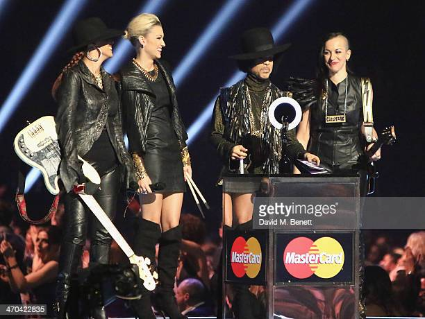 Prince presents at The BRIT Awards 2014 at 02 Arena on February 19 2014 in London England