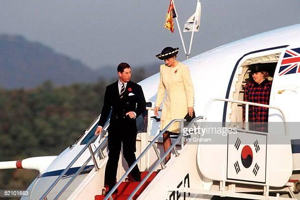 Prince Princess Of Wales Arrive In Korea