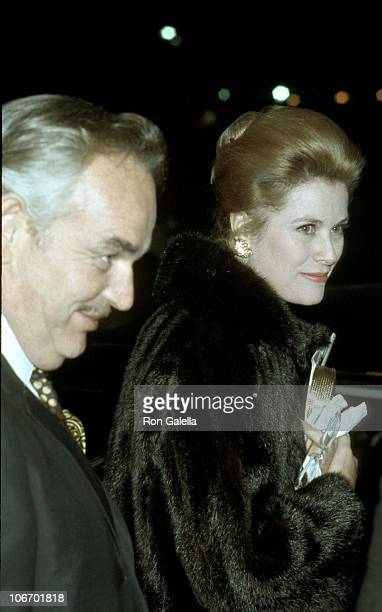 Prince Rainier and Grace Kelly during Grace Kelly Prince Rainier at a Private Club after Seeing 'Butterflies Are Free' at Raffles in New York City...