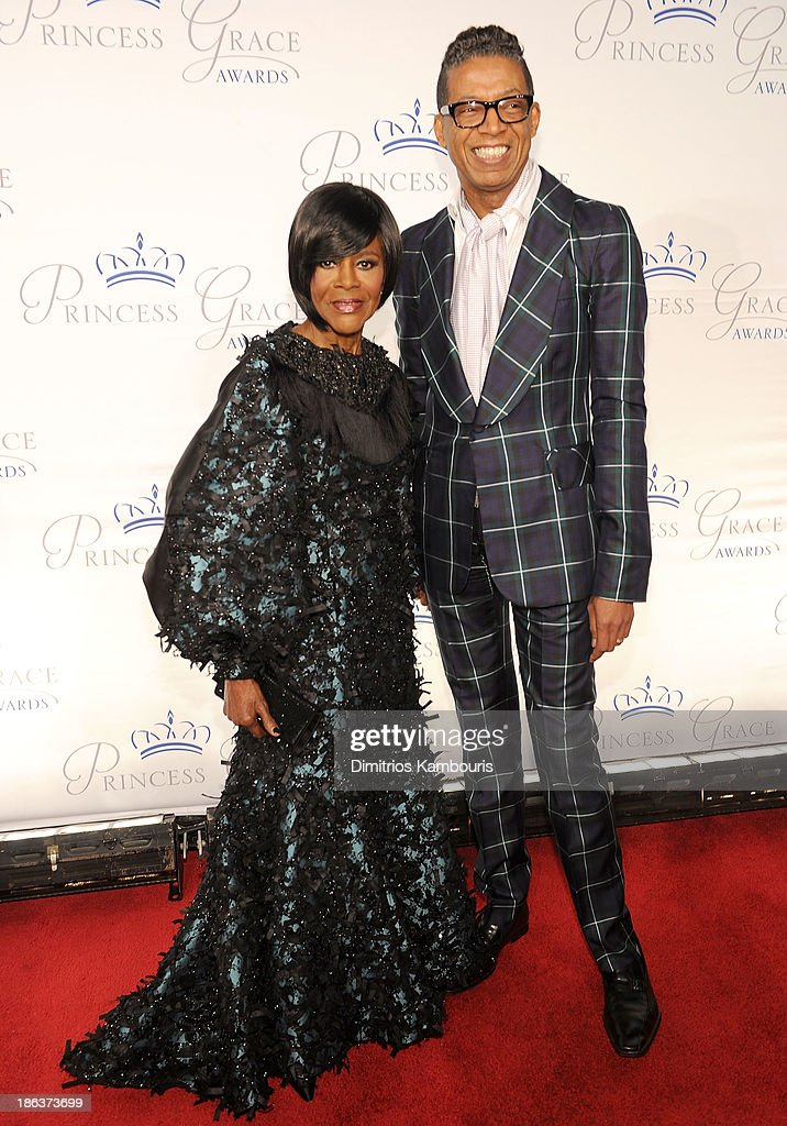 Prince Rainier III Award Recipient <a gi-track='captionPersonalityLinkClicked' href=/galleries/search?phrase=Cicely+Tyson&family=editorial&specificpeople=211450 ng-click='$event.stopPropagation()'>Cicely Tyson</a> and designer B Michael attend the 2013 Princess Grace Awards Gala at Cipriani 42nd Street on October 30, 2013 in New York City.