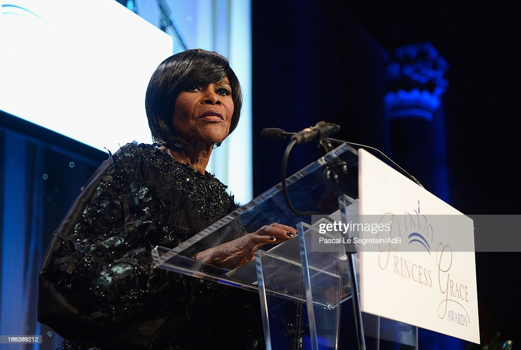 Prince Rainier III Award Recipient <a gi-track='captionPersonalityLinkClicked' href=/galleries/search?phrase=Cicely+Tyson&family=editorial&specificpeople=211450 ng-click='$event.stopPropagation()'>Cicely Tyson</a> speaks onstage at the 2013 Princess Grace Awards Gala at Cipriani 42nd Street on October 30, 2013 in New York City.