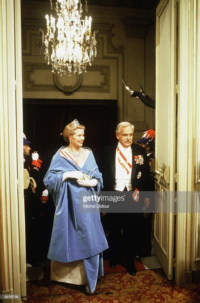 Prince Rainier III of Monaco with Princess Grace Kelly arriving at the Opera on National Day on November 19, 1980 in Monte Carlo, Monaco.