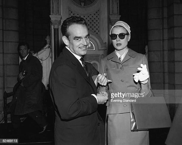 Prince Rainier of Monaco and American actress Grace Kelly together in Monaco for their wedding April 1956