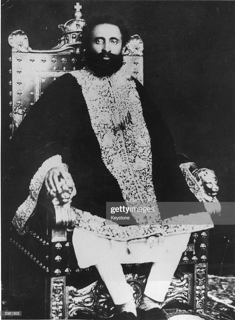 Prince Ras Tafari (1892 - 1975) shortly before he was made Emperor Haile Selassie I of Ethiopia.