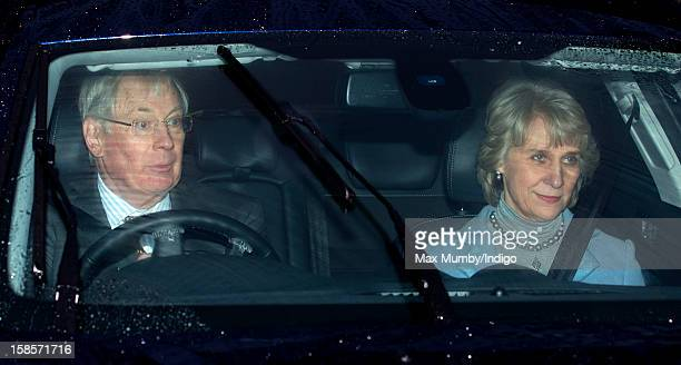 Prince Richard Duke of Gloucester and Birgitte Duchess of Gloucester attend a Christmas lunch for members of the Royal Family hosted by Queen...