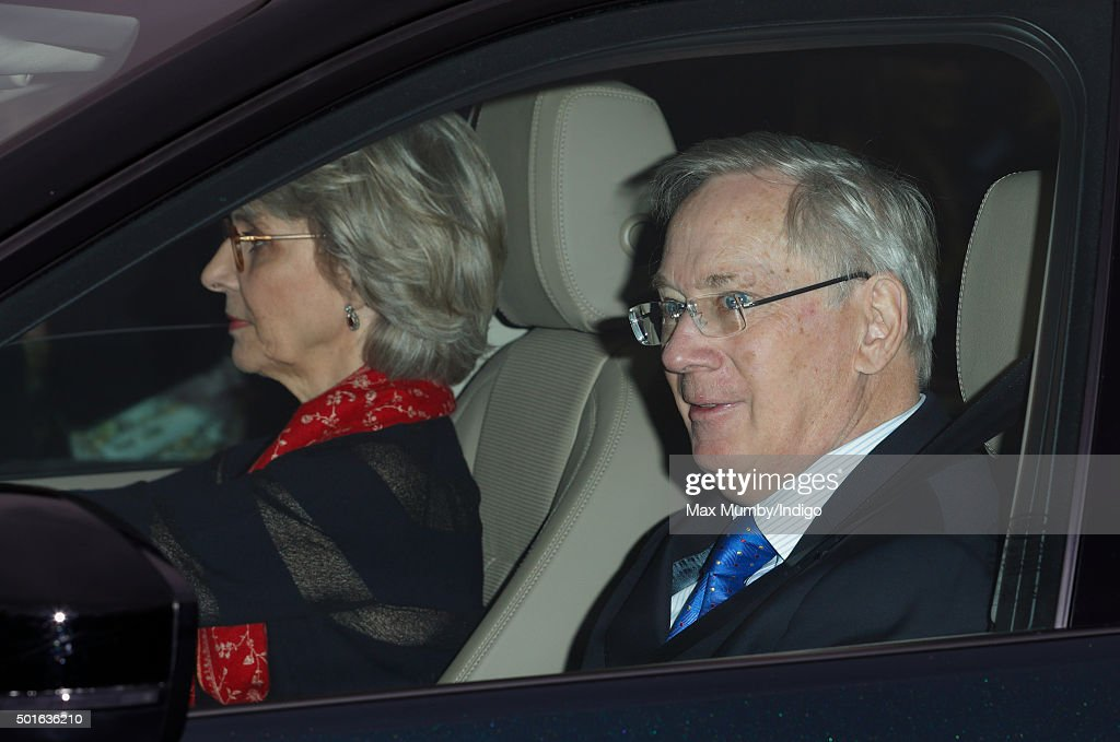 <a gi-track='captionPersonalityLinkClicked' href=/galleries/search?phrase=Prince+Richard+-+Duke+of+Gloucester&family=editorial&specificpeople=4151394 ng-click='$event.stopPropagation()'>Prince Richard</a>, Duke of Gloucester and <a gi-track='captionPersonalityLinkClicked' href=/galleries/search?phrase=Birgitte+-+Duchess+of+Gloucester&family=editorial&specificpeople=4152242 ng-click='$event.stopPropagation()'>Birgitte</a>, Duchess of Gloucester attend a Christmas lunch for members of the Royal Family hosted by Queen Elizabeth II at Buckingham Palace on December 16, 2015 in London, England.