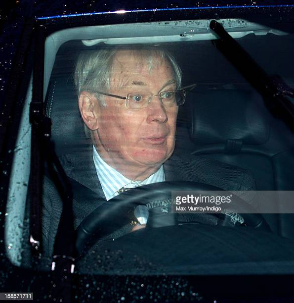 Prince Richard Duke of Gloucester attends a Christmas lunch for members of the Royal Family hosted by Queen Elizabeth II at Buckingham Palace on...