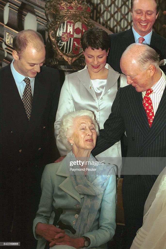 Prince Richard of Sayn Wittgenstein & his mother. Center, Martha Louise of Norway.
