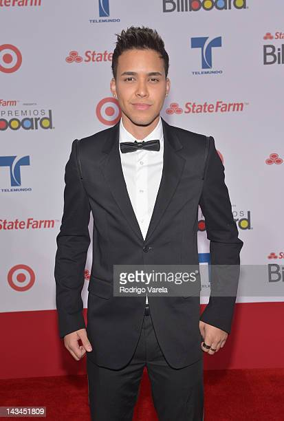 Prince Royce arrives at the Billboard Latin Music Awards 2012 at Bank United Center on April 26 2012 in Miami Florida