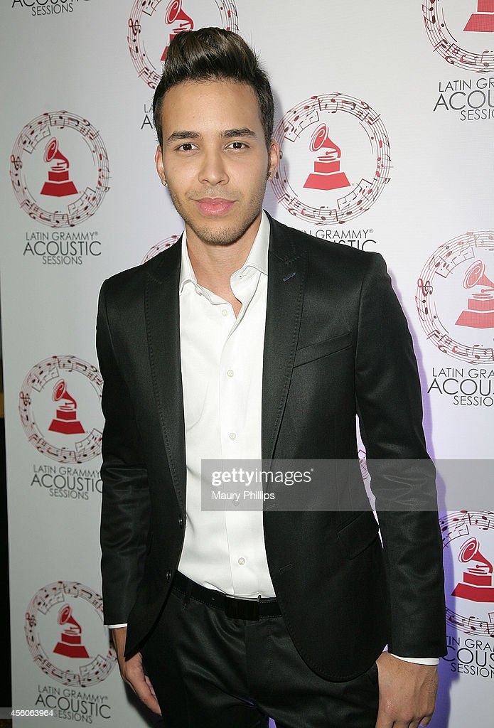 <a gi-track='captionPersonalityLinkClicked' href=/galleries/search?phrase=Prince+Royce&family=editorial&specificpeople=6918529 ng-click='$event.stopPropagation()'>Prince Royce</a> arrives at the Latin GRAMMY Acoustic Sessions - LA with <a gi-track='captionPersonalityLinkClicked' href=/galleries/search?phrase=Prince+Royce&family=editorial&specificpeople=6918529 ng-click='$event.stopPropagation()'>Prince Royce</a> at the Fonda Theatre on September 24, 2014 in Los Angeles, California.