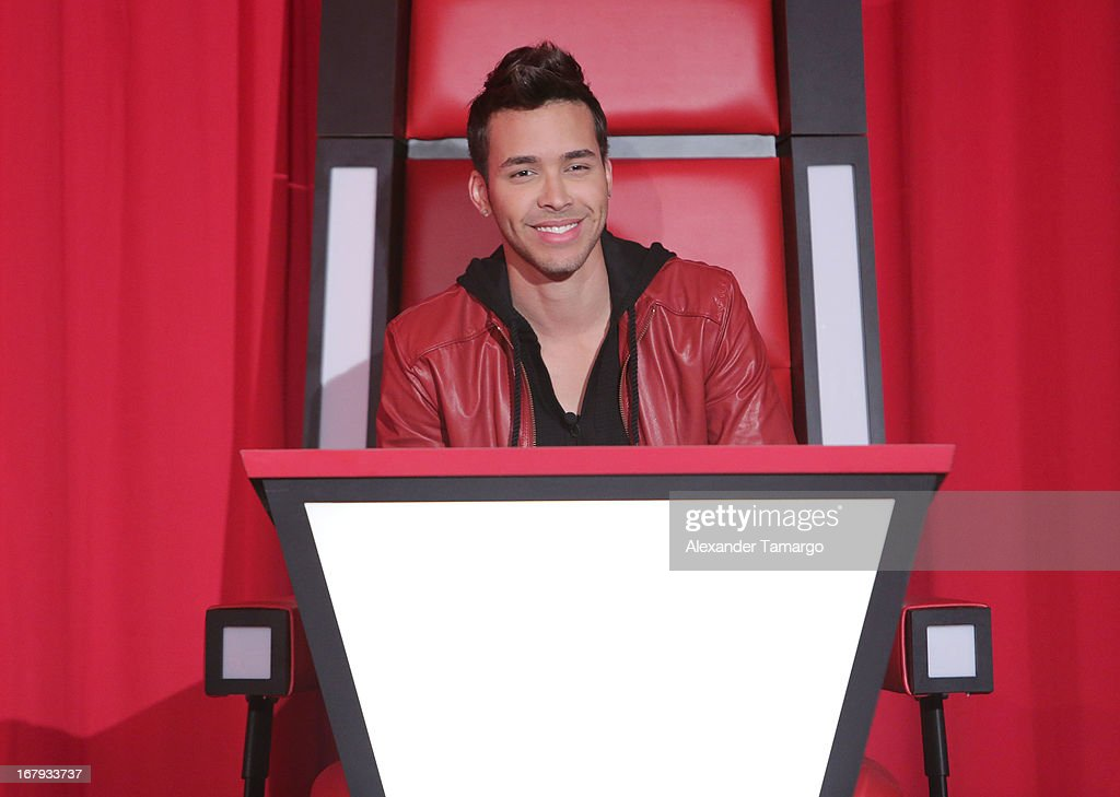 <a gi-track='captionPersonalityLinkClicked' href=/galleries/search?phrase=Prince+Royce&family=editorial&specificpeople=6918529 ng-click='$event.stopPropagation()'>Prince Royce</a> attends a press conference for Telemundo's 'La Voz Kids' on May 2, 2013 in Miami, Florida.