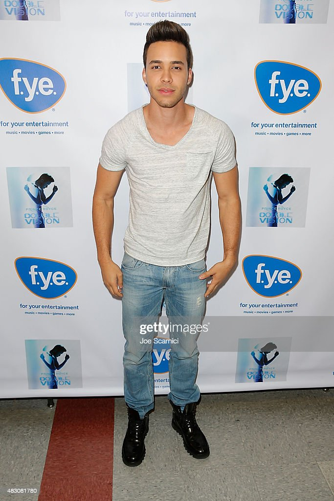 <a gi-track='captionPersonalityLinkClicked' href=/galleries/search?phrase=Prince+Royce&family=editorial&specificpeople=6918529 ng-click='$event.stopPropagation()'>Prince Royce</a> attends an album signing for 'Double Vision' at FYE on August 5, 2015 in Fullerton, California.