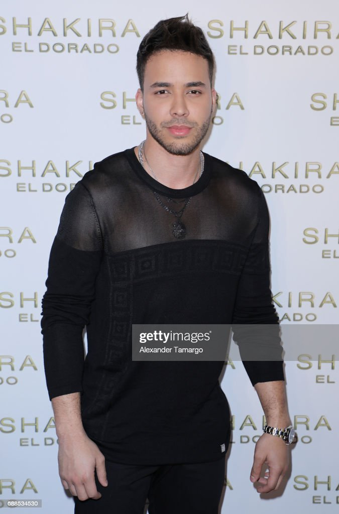 Prince Royce is seen at the Shakira 'El Dorado' Album Release Party at The Temple House on May 25, 2017 in Miami, Florida.