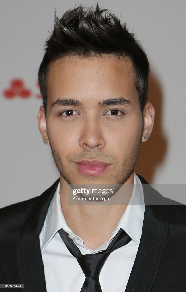 <a gi-track='captionPersonalityLinkClicked' href=/galleries/search?phrase=Prince+Royce&family=editorial&specificpeople=6918529 ng-click='$event.stopPropagation()'>Prince Royce</a> poses backstage at Billboard Latin Music Awards 2013 at Bank United Center on April 25, 2013 in Miami, Florida.
